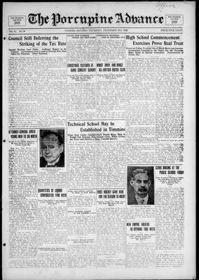 Porcupine Advance, 16 Dec 1926