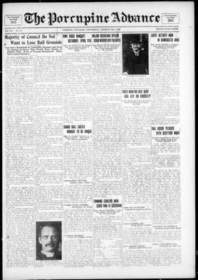 Porcupine Advance, 31 Mar 1927