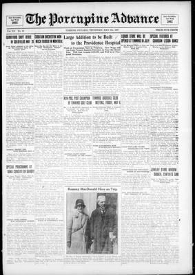 Porcupine Advance, 5 May 1927