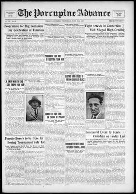 Porcupine Advance, 30 Jun 1927
