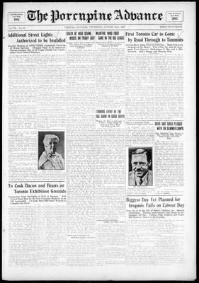 Porcupine Advance, 25 Aug 1927