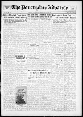 Porcupine Advance, 8 Sep 1927
