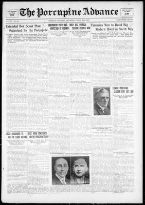 Porcupine Advance, 22 Sep 1927