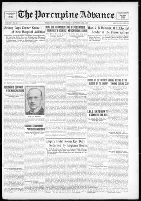 Porcupine Advance, 13 Oct 1927
