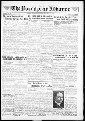 Porcupine Advance, 10 Nov 1927