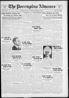 Porcupine Advance, 8 Dec 1927