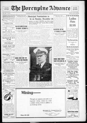 Porcupine Advance, 15 Dec 1927