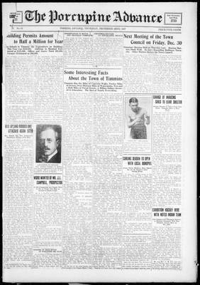 Porcupine Advance, 22 Dec 1927
