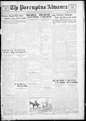 Porcupine Advance, 5 Jan 1928