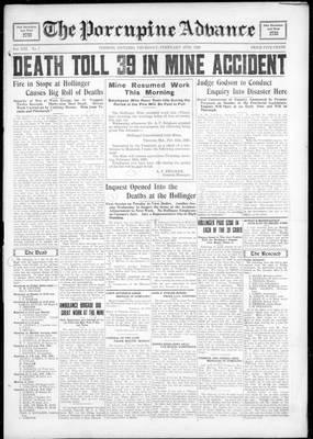 Porcupine Advance, 16 Feb 1928