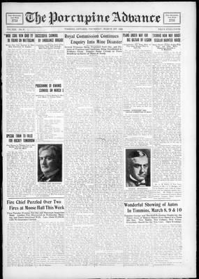 Porcupine Advance, 1 Mar 1928