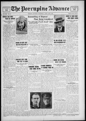 Porcupine Advance, 12 Apr 1928