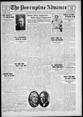 Porcupine Advance, 19 Apr 1928