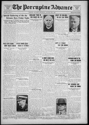 Porcupine Advance, 2 Aug 1928