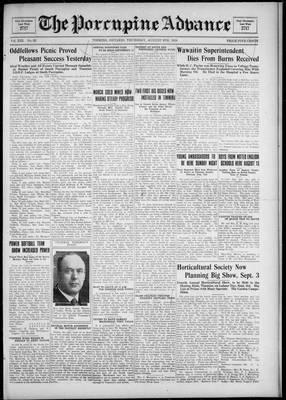 Porcupine Advance, 9 Aug 1928