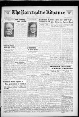 Porcupine Advance, 16 Aug 1928