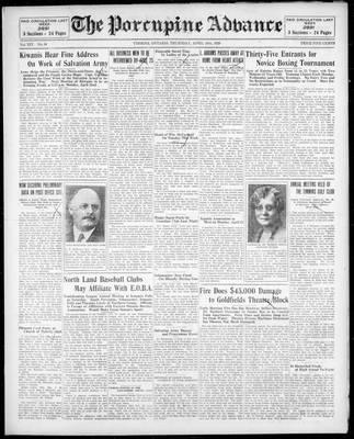 Porcupine Advance, 18 Apr 1929