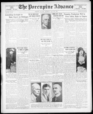 Porcupine Advance, 16 May 1929