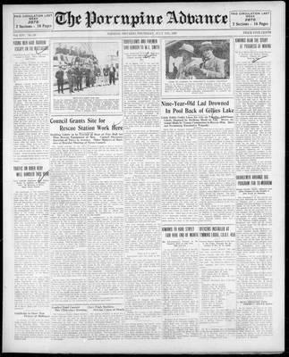 Porcupine Advance, 11 Jul 1929