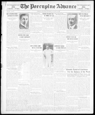 Porcupine Advance, 1 Aug 1929