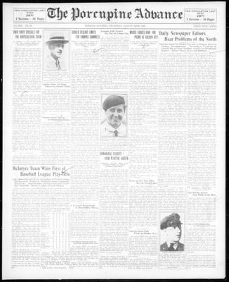 Porcupine Advance, 22 Aug 1929