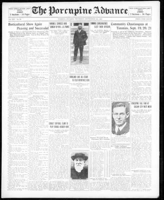 Porcupine Advance, 5 Sep 1929
