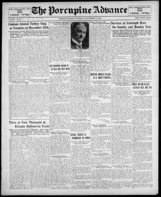 Porcupine Advance, 7 Nov 1929