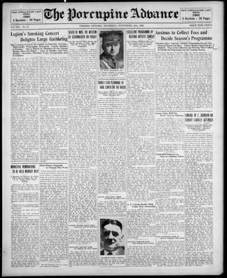 Porcupine Advance, 21 Nov 1929
