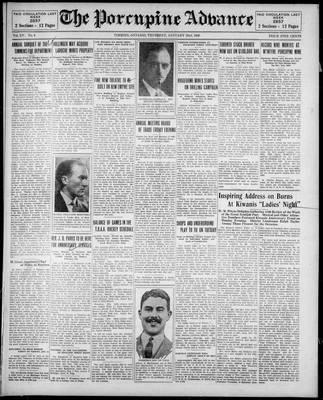 Porcupine Advance, 23 Jan 1930