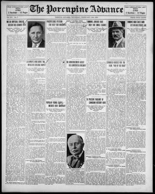 Porcupine Advance, 13 Feb 1930