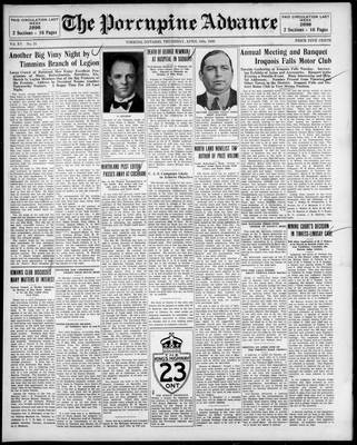 Porcupine Advance, 10 Apr 1930