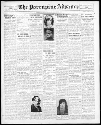Porcupine Advance, 7 Aug 1930