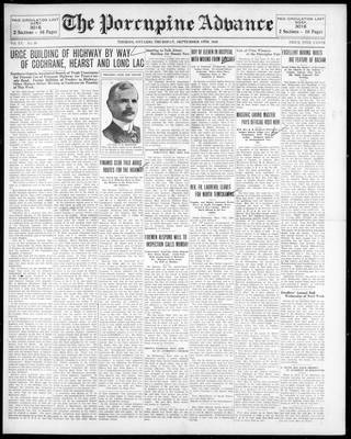 Porcupine Advance, 18 Sep 1930
