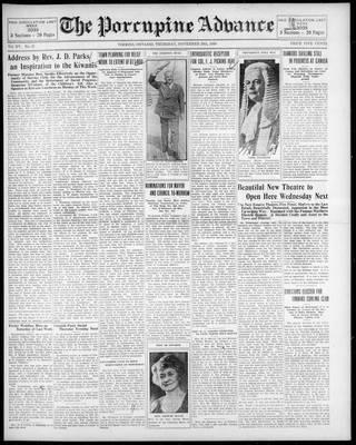 Porcupine Advance, 20 Nov 1930