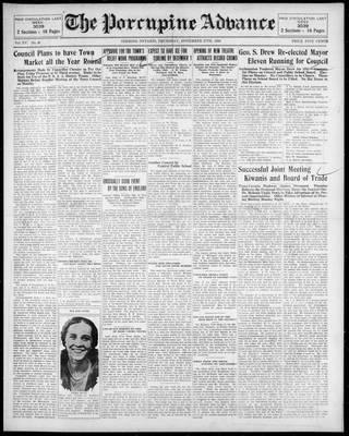 Porcupine Advance, 27 Nov 1930