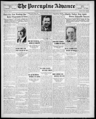 Porcupine Advance, 11 Dec 1930