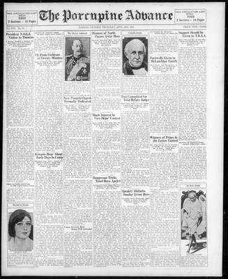 Porcupine Advance, 2 Apr 1931