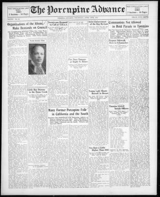 Porcupine Advance, 16 Apr 1931
