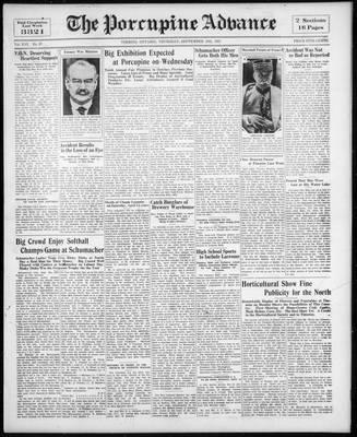Porcupine Advance, 10 Sep 1931