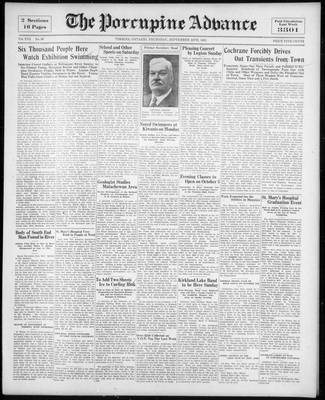 Porcupine Advance, 24 Sep 1931