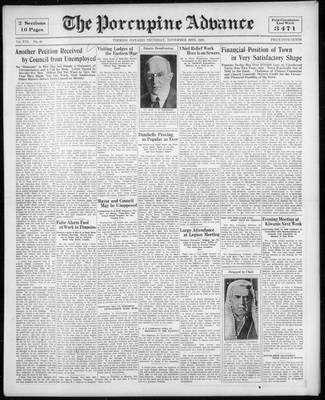 Porcupine Advance, 26 Nov 1931