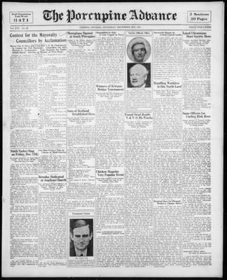 Porcupine Advance, 3 Dec 1931