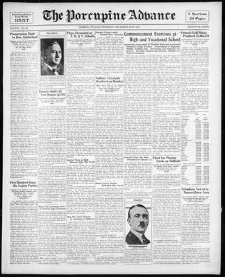 Porcupine Advance, 24 Dec 1931