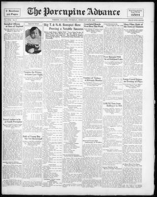 Porcupine Advance, 4 Feb 1932