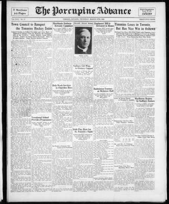 Porcupine Advance, 17 Mar 1932
