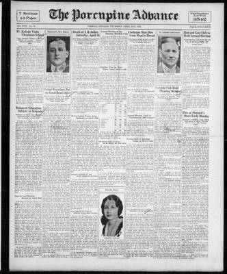 Porcupine Advance, 21 Apr 1932