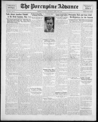 Porcupine Advance, 28 Apr 1932