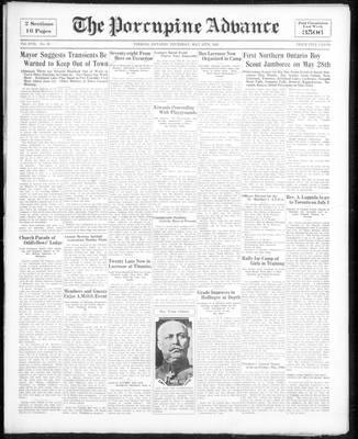 Porcupine Advance, 12 May 1932