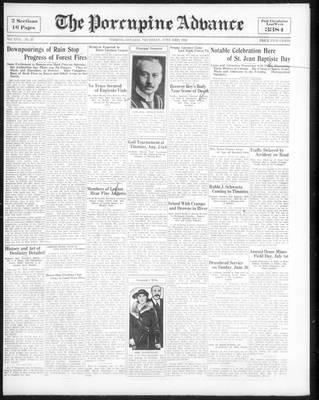 Porcupine Advance, 23 Jun 1932