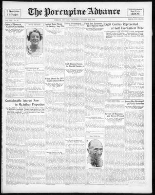Porcupine Advance, 4 Aug 1932